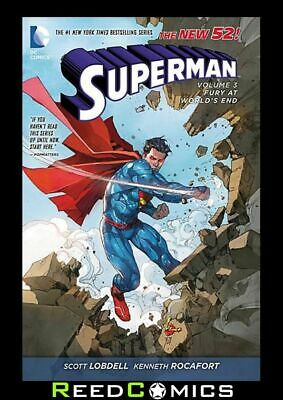 SUPERMAN VOLUME 3 FURY AT THE WORLDS END GRAPHIC NOVEL Collects (2011) #13-17, 0