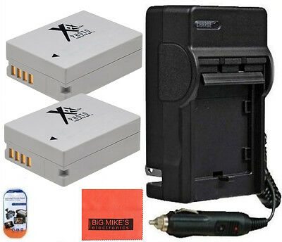Qty 2 NB-10L NB10L Batteries & Charger for Canon PowerShot G15 G1 X SX40 SX50 HS