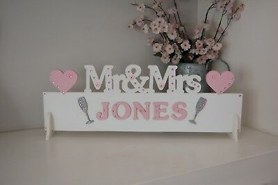 PERSONALISED Mr & Mrs Wedding Table Decoration Sign ANY SURNAME Mr&Mrs Gift