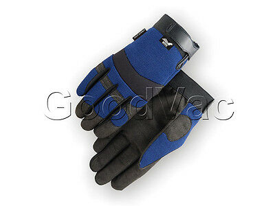 Majestic 2137BL Mechanics Style Armor Skin Synthetic Leather Work Gloves SMALL