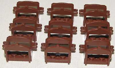 LEGO LOT OF 9 REDDISH BROWN CASTLE HORSE SADDLES ACCESSORIES PIECES