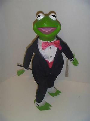 Muppets Kermit the Frog Doll Tuxedo by Presents Hamilton Gifts with Tags & Stand