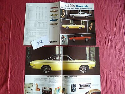 102  / PLYMOUTH CHRYSLER  Barracuda  1969  englsih text
