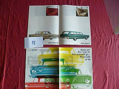 98  / PLYMOUTH CHRYSLER  catalogue gamme 1966  english text