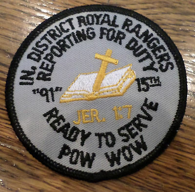 In District Ready To Serve Reporting For Duty  Royal Ranger Uniform Patch