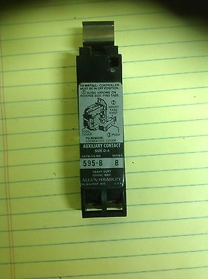 Allen Bradley 595-B Series B Auxiliary  Contact Size 0-4