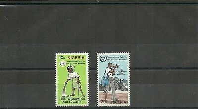 Nigeria Sg421-422 International Year For Disabled Persons Mnh