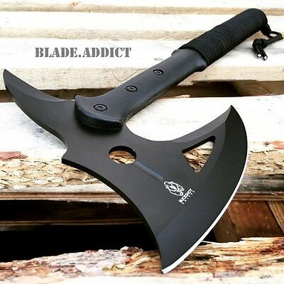 """16"""" SURVIVAL CAMPING TOMAHAWK THROWING AXE BATTLE Hatchet hunting knife tactical"""
