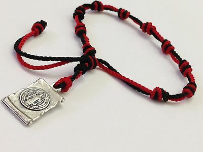 Bracelets St. Benedict that protect from the evil eye Two hand knotted threads