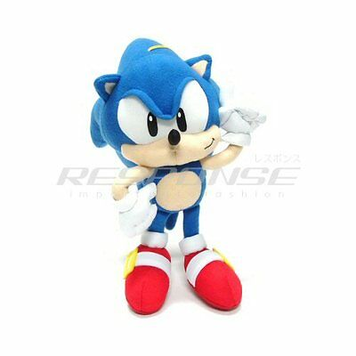"Sonic the Hedgehog Plush Doll Figure Toy 10"" SEGA Official Genuine"