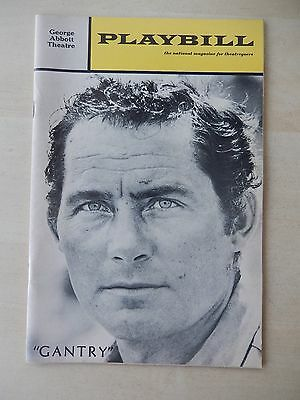 February 1970 - George Abbott Theatre Playbill - Gantry - Robert Shaw - Moreno
