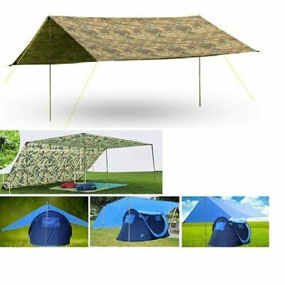 3mx3m UV Protect Silver Coating Waterproof Tarp Sun Shelter Shade Awning Roof To