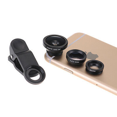 3in1 180°Clip Fish Eye Fisheye + Wide Angle + Macro Lens Kit for iPhone 6 Plus