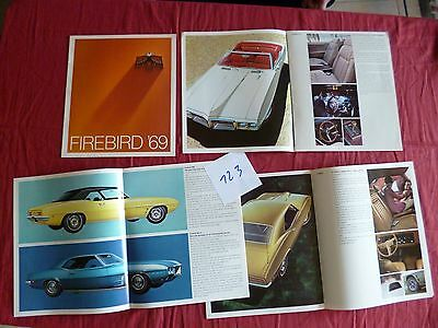 123 /  PONTIAC : catalogue firebird 1969 english text USA