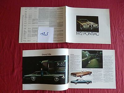 125 /  PONTIAC : catalogue gamme 1972    english text