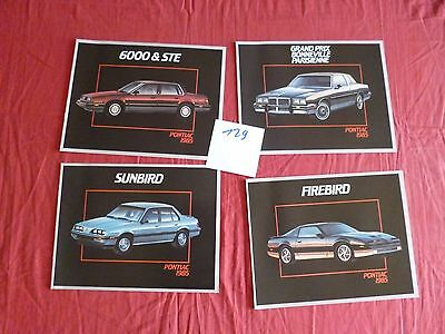 129 /  PONTIAC : 4 catalogues et dépliant  modéle 1985  english text canada