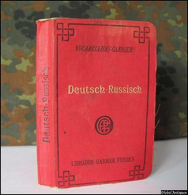Wwii Original German Russian Dictionary With Runic Symbols