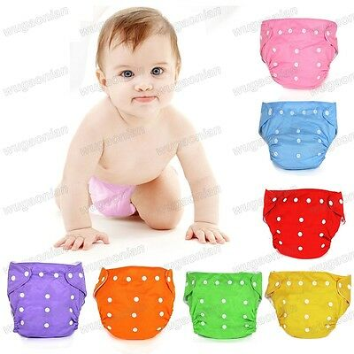 New Infant Reusable Cloth Baby Diaper Nappy Newborn Adjustable All In One Size