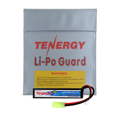 Tenergy 7.4V 1000mAh LiPO Rechargeable Battery Pack for Airsoft w/ Mini Tamiya