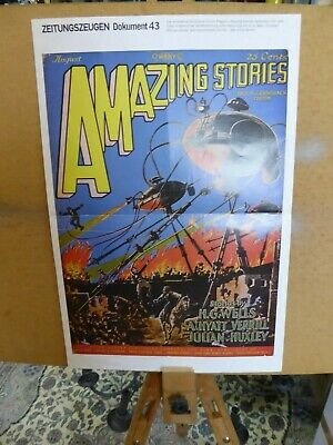 Werbeplakat Kinofilm 1927 Amazing Stories Film Kino Plakat
