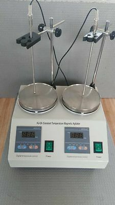 2 Units Heads Multi-unit Digital Thermostatic Magnetic Stirrer Hotplate mixer a