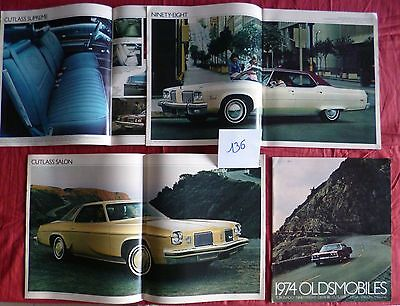 136 / OLDSMOBILE : catalogue gamme 1974  english text