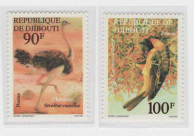 Djibouti birds/uccelli stamps