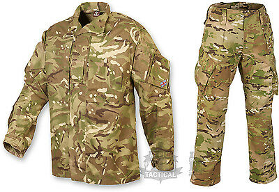 British Army Pcs Style Shirt And Trouser Set Suit Mtp Multicam Genuine Camo