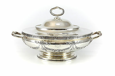 German Hanau .800 Silver Lidded Vegetable Server by George Roth 1891-1919