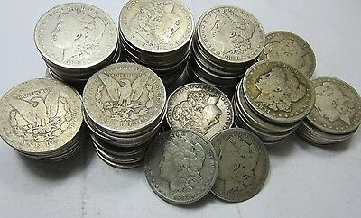 (20) Morgan Dollar Roll/Lot // Mixed Date // CIRCULATED // 90% Silver