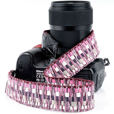 Vintage DSLR Camera Shoulder Neck Strap Belt Hand Grip For Canon Nikon Sony 1023