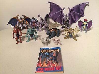 Vintage 90s Walt Disney Gargoyles Action Figures Toys Board Games VHS Movie Lot