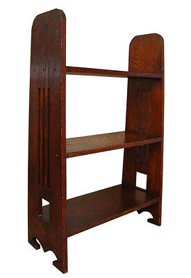 Antique ARTS & CRAFTS Bookstand with Cutouts MISSION Oak  stickley  era w1778