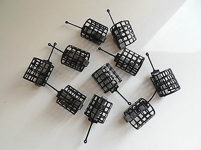 10 x Round Metal Cage Feeders - 10grams.  Carp / Coarse fishing