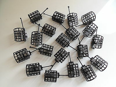 20 x Round Metal Cage Feeders - 15 grams.  Carp / Coarse fishing
