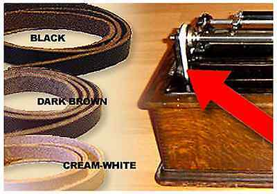 BROWN Leather Gramophone Pulley BELT - EDISON Columbia Pathe Cylinder Phonos