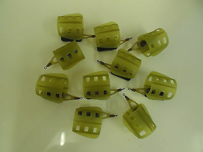 10 x Open Ended Fin Feeders - 40 grams.  Carp / Coarse fishing, rivers and Lakes