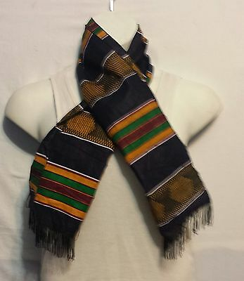 African Kente Cloth Neck Head Scarf Scarves Tie Wrap Dashiki Shemagh P04 1 Size