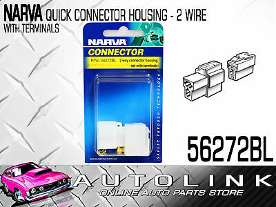 Narva 2 Way Connector Housing With Terminals Amperage Rating: 20A
