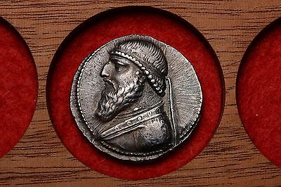 Ancient Silver Parthian Tetradrachm Coin of King Mithradates II the Great -119BC
