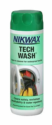 Nikwax Tech Wash 300ml Wash-in Cleaner Waterproof Outdoor Clothing & Equipment