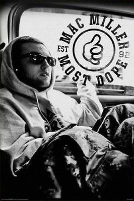 MAC MILLER - MOST DOPE POSTER - 24x36 SHRINK WRAPPED - MUSIC RAP HIP HOP 241169