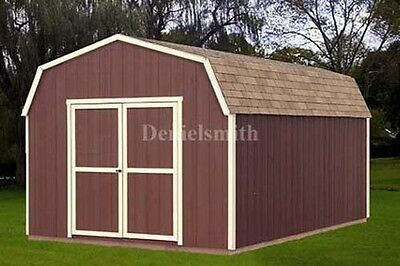 12x16 Barn Storage Shed Plans, Buy It Now Get It Fast!