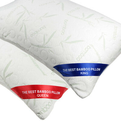 The Original Best Bamboo Memory Foam Hypoallergenic Pillow with Carry Bag