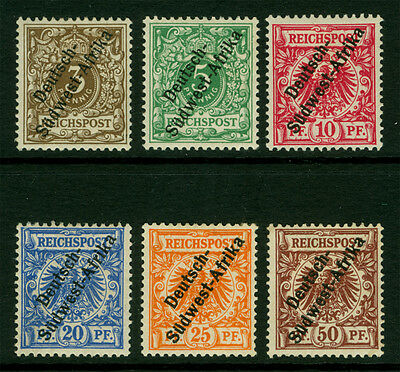 German Colonies - SOUTH WEST AFRICA 1897 SURCHARGED complete set Sc# 1-6 mint MH