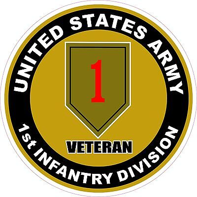 """UNITED STATES Army 1st Infantry Division Veteran Decal Sticker USA 4.5"""""""