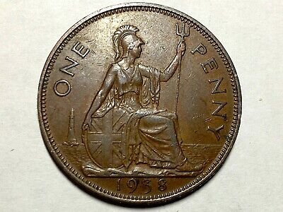 Great Britain 1938 One Penny High Grade Coin