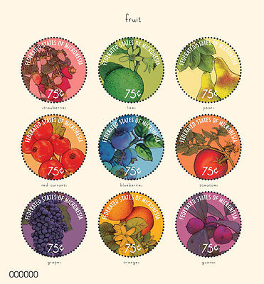 Micronesia Stamp 2014 Fruits 9X Sheetlet