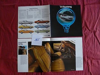 165 / FORD Mustang 1971   catalogue english text 1/71