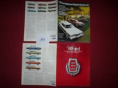 171 / FORD : 2 catalogues gamme et station wagon 1974